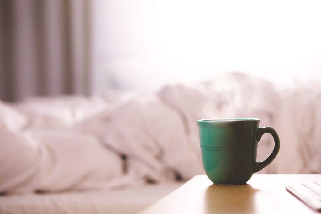 partir du bon pied le matin : café